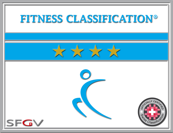 fitness classification plakette 4 sterne